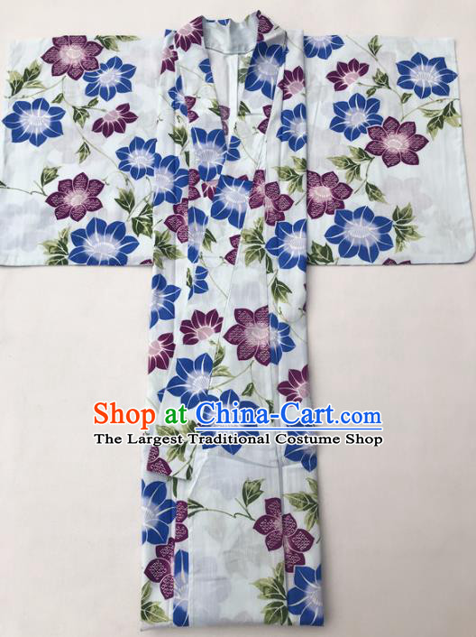 Traditional Japanese Classical Kimono Asian Japan Costume Geisha Yukata Dress for Women