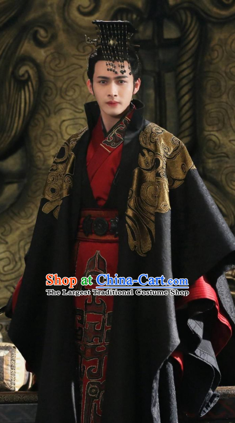 Ancient Chinese Ying Zheng Qin Shi Huang First Emperor Coronation Costumes