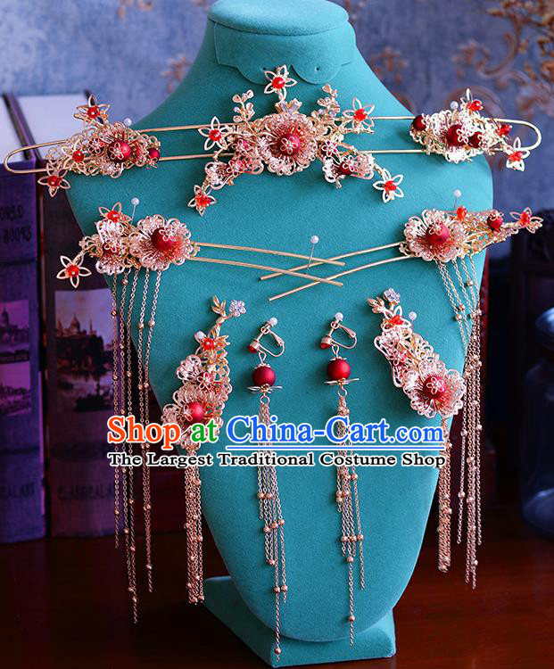 Traditional Chinese Ancient Hanfu Hair Clasp Bride Hairpins Handmade Wedding Hair Accessories for Women