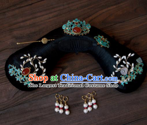 Traditional Chinese Ancient Qing Dynasty Imperial Concubine Hairpins Handmade Wedding Hair Accessories for Women