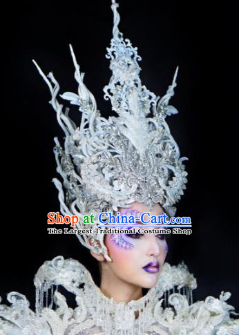 Top Grade Halloween Hair Accessories Handmade Cosplay Queen Fancy Ball Hat Headwear for Women