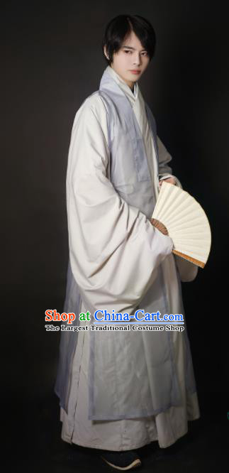 Chinese Traditional Ming Dynasty Taoist Historical Costume Ancient Swordsman Robe for Men