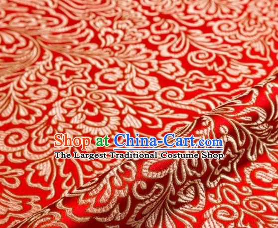 Asian Chinese Traditional Red Brocade Cheongsam Silk Fabric Chinese Fabric Material