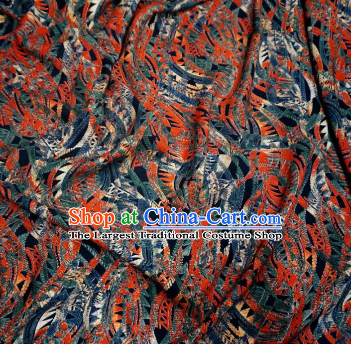 Asian Chinese Traditional Pattern Design Watered Gauze Cheongsam Silk Fabric Chinese Fabric Material