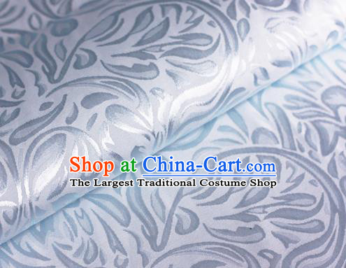 Asian Chinese Traditional Pattern Light Blue Brocade Cheongsam Silk Fabric Chinese Satin Fabric Material