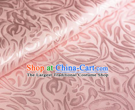 Asian Chinese Traditional Pattern Light Pink Brocade Cheongsam Silk Fabric Chinese Satin Fabric Material