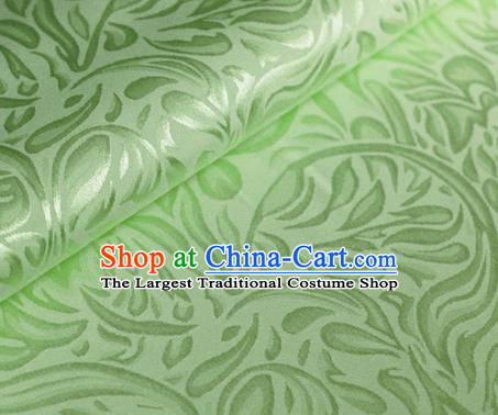 Asian Chinese Traditional Pattern Light Green Brocade Cheongsam Silk Fabric Chinese Satin Fabric Material
