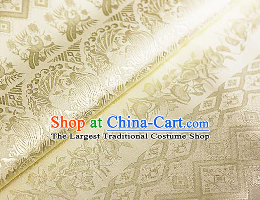Asian Chinese Traditional Royal Pattern Golden Brocade Cheongsam Silk Fabric Chinese Satin Fabric Material
