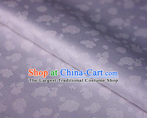 Asian Chinese Traditional Royal Flowers Pattern Purple Brocade Cheongsam Silk Fabric Chinese Satin Fabric Material