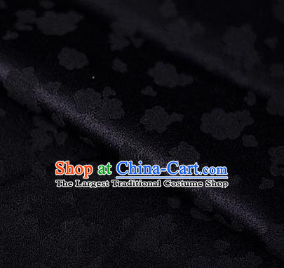 Asian Chinese Traditional Royal Flowers Pattern Black Brocade Cheongsam Silk Fabric Chinese Satin Fabric Material