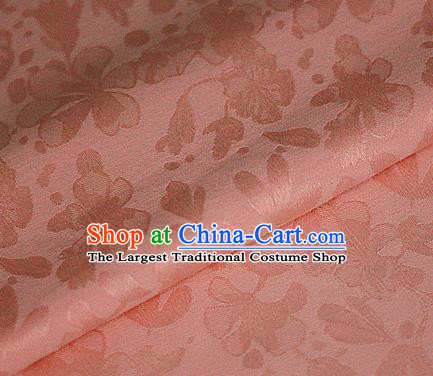Asian Chinese Traditional Classical Pattern Pink Brocade Cheongsam Silk Fabric Chinese Satin Fabric Material