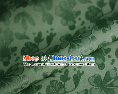 Asian Chinese Traditional Classical Pattern Green Brocade Cheongsam Silk Fabric Chinese Satin Fabric Material
