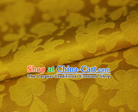 Asian Chinese Traditional Classical Pattern Yellow Brocade Cheongsam Silk Fabric Chinese Satin Fabric Material