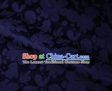 Asian Chinese Traditional Classical Pattern Navy Brocade Cheongsam Silk Fabric Chinese Satin Fabric Material