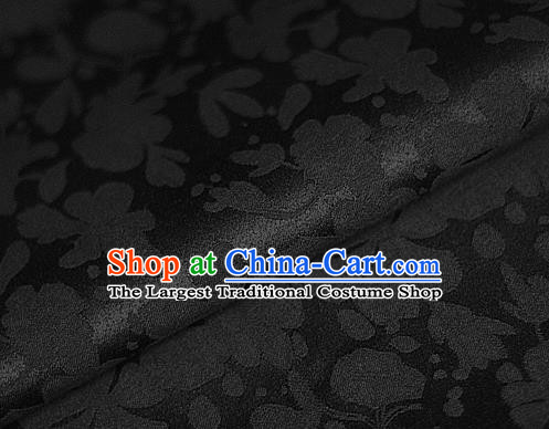 Asian Chinese Traditional Classical Pattern Black Brocade Cheongsam Silk Fabric Chinese Satin Fabric Material
