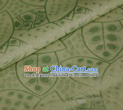 Asian Chinese Traditional Leaf Pattern Green Brocade Cheongsam Silk Fabric Chinese Satin Fabric Material