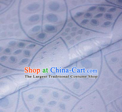 Asian Chinese Traditional Leaf Pattern Lilac Brocade Cheongsam Silk Fabric Chinese Satin Fabric Material