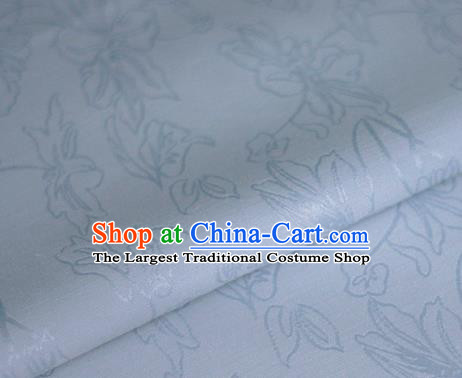 Asian Chinese Traditional Classical Jacquard Pattern Blue Brocade Cheongsam Silk Fabric Chinese Satin Fabric Material