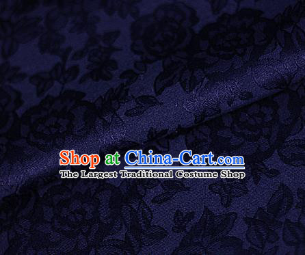 Asian Chinese Classical Peony Pattern Purple Brocade Cheongsam Silk Fabric Chinese Traditional Satin Fabric Material