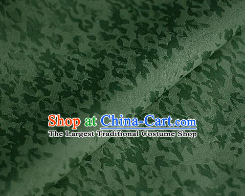 Chinese Classical Pattern Green Brocade Cheongsam Silk Fabric Chinese Traditional Satin Fabric Material