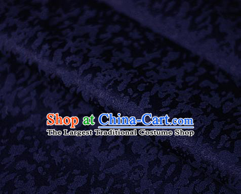 Chinese Classical Pattern Navy Brocade Cheongsam Silk Fabric Chinese Traditional Satin Fabric Material