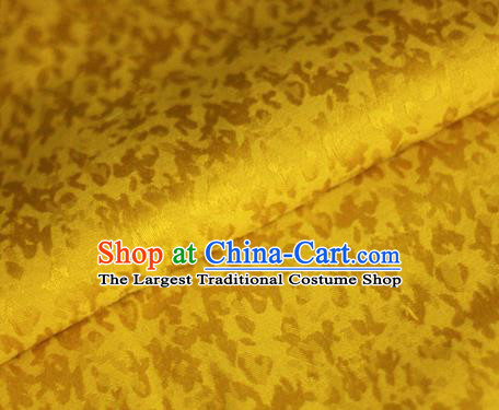 Chinese Classical Pattern Golden Brocade Cheongsam Silk Fabric Chinese Traditional Satin Fabric Material