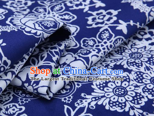 Chinese Classical Tulip Pattern Brocade Cheongsam Silk Fabric Chinese Traditional Satin Fabric Material