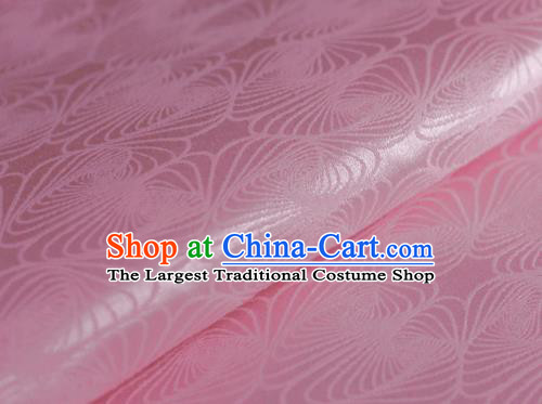 Chinese Classical Pattern Design Pink Brocade Cheongsam Silk Fabric Chinese Traditional Satin Fabric Material