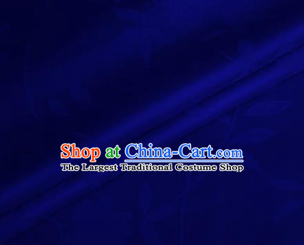 Chinese Blue Brocade Classical Pattern Design Satin Cheongsam Silk Fabric Chinese Traditional Satin Fabric Material