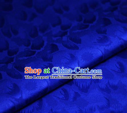 Chinese Classical Pattern Design Royalblue Brocade Satin Cheongsam Silk Fabric Chinese Traditional Satin Fabric Material