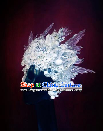 Top Grade Halloween Queen Hair Accessories Handmade Cosplay Fancy Ball Hat Headwear for Women