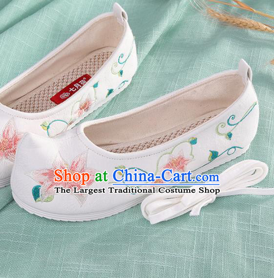 Chinese Traditional Embroidered Shoes Hanfu Cloth Shoes Handmade Ancient Princess Shoes for Women