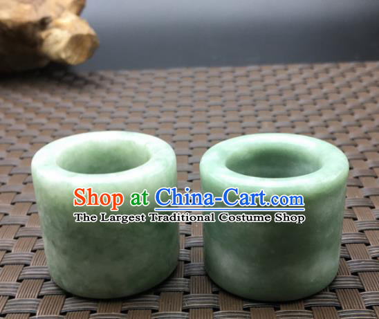 Chinese Handmade Ancient Jade Rings Traditional Jade Thimble Jewelry Accessories for Women for Men