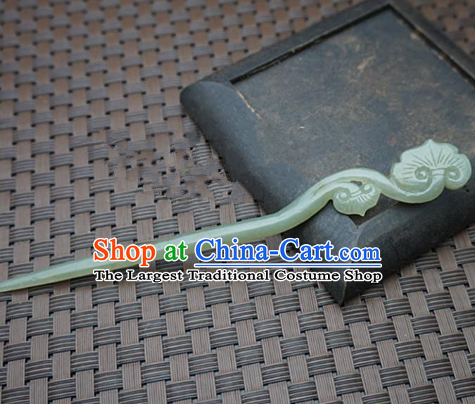 Chinese Handmade Jade Hairpins Ancient Jade Carving Hair Clip Hair Accessories for Women for Men