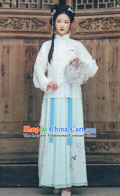 Chinese Ancient Nobility Lady Hanfu Dress Traditional Drama Ming Dynasty Historical Costume for Women