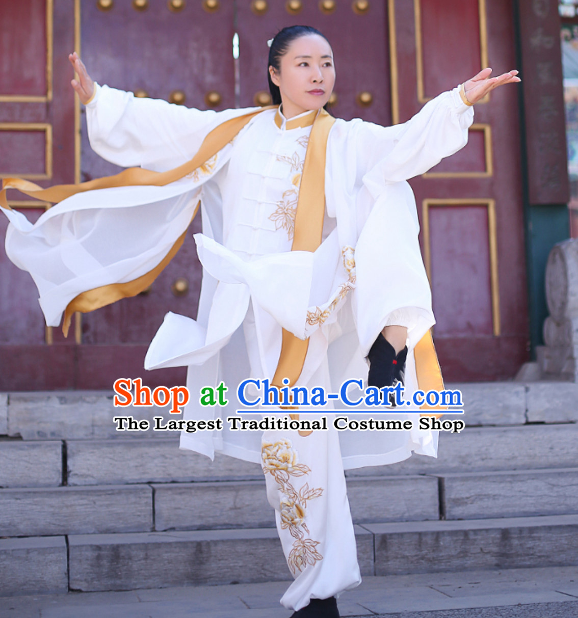 Top Chinese Traditional Competition Championship Tai Chi Taiji Kung Fu Wing Chun Shaolin Master Suits Dresses Complete Set