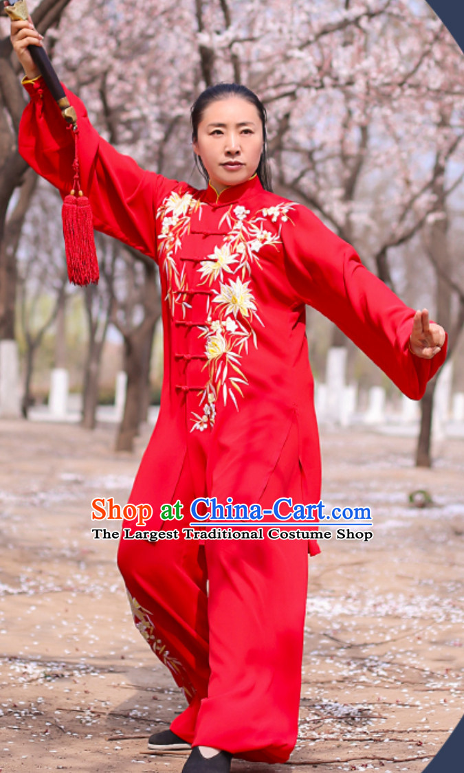 Top Chinese Traditional Competition Championship Tai Chi Taiji Kung Fu Wing Chun Kungfu Tai Ji Gong Fu Master Suit Clothing Complete Set