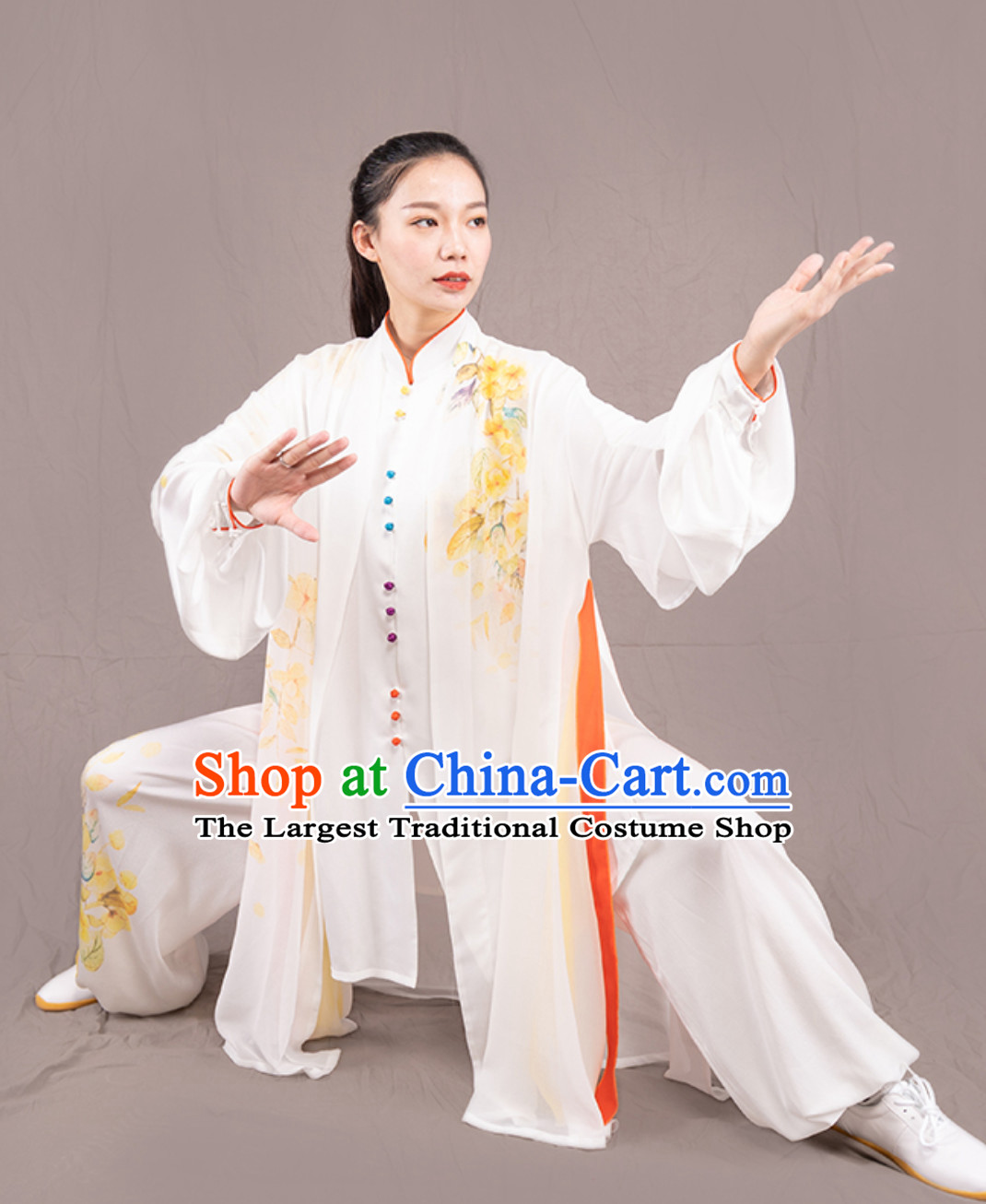Top Chinese Traditional Competition Championship Professional Tai Chi Uniforms Taiji Kung Fu Wing Chun Kungfu Tai Ji Sword Gong Fu Master Stage Performance Suits Clothes Complete Set