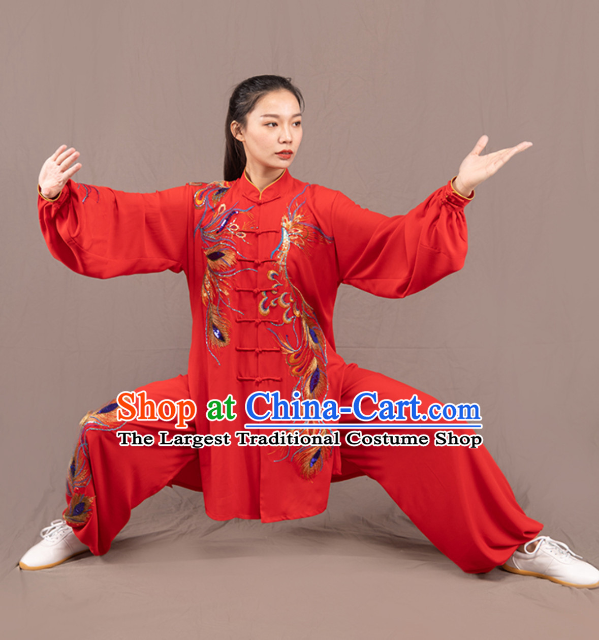 Top Chinese Traditional Competition Championship Professional Tai Chi Uniforms Taiji Kung Fu Wing Chun Kungfu Tai Ji Sword Gong Fu Master Clothing Suits Clothes Complete Set for Women