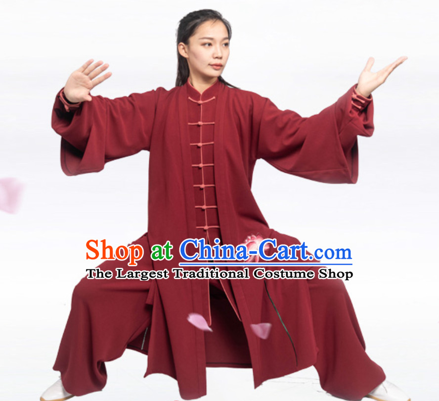Good Meaning Lotus Chinese Traditional Competition Championship Professional Tai Chi Uniforms Taiji Kung Fu Wing Chun Kungfu Tai Ji Sword Master Clothing Suits Clothing