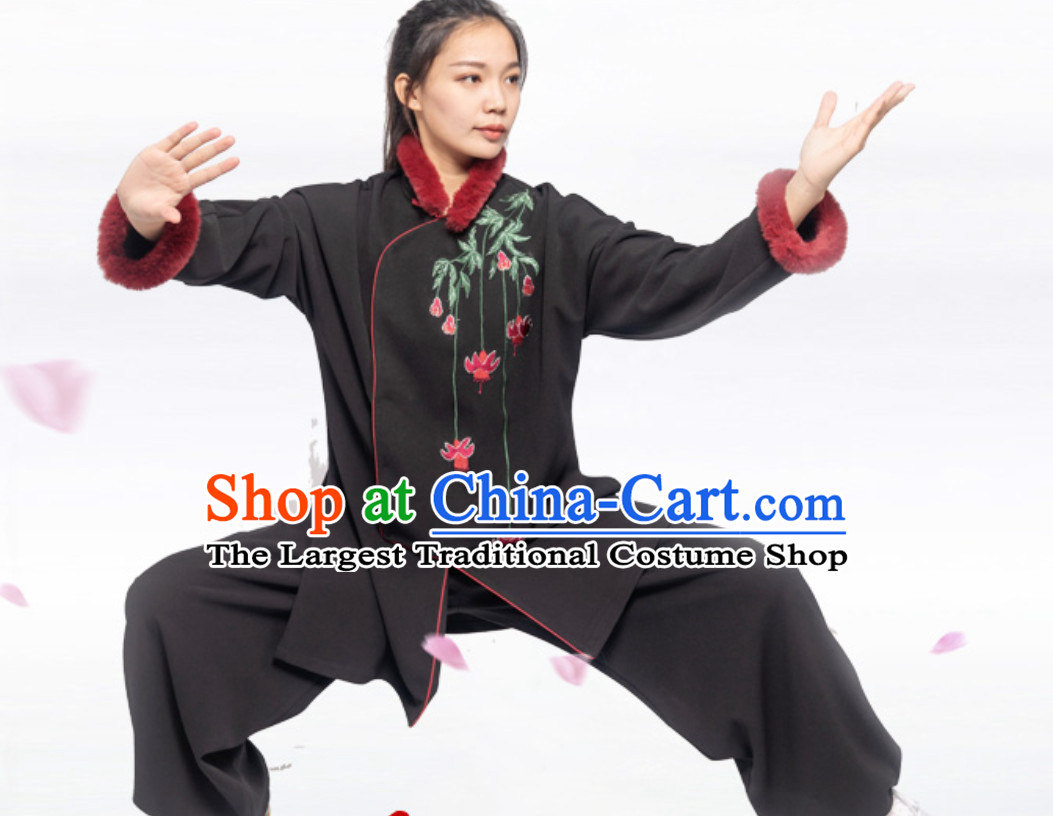 Winter Wear Top Chinese Traditional Competition Championship Professional Tai Chi Uniforms Taiji Kung Fu Wing Chun Kungfu Tai Ji Sword Master Clothing Suits Clothing Complete Set