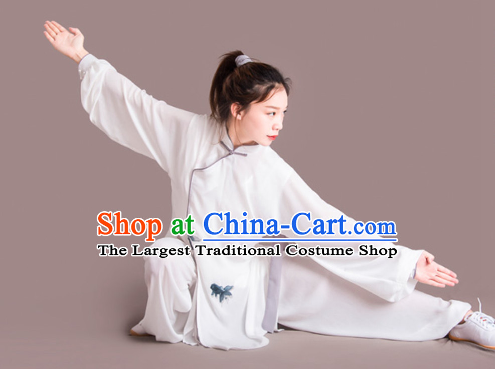 Fish Good Meaning Top Chinese Classical Competition Championship Professional Tai Chi Uniforms Clothing Complete Set