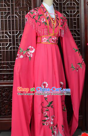Handmade Chinese Beijing Opera Princess Costume Peking Opera Actress Embroidered Rosy Dress for Women