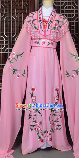 Handmade Chinese Beijing Opera Princess Costume Peking Opera Actress Embroidered Pink Dress for Women