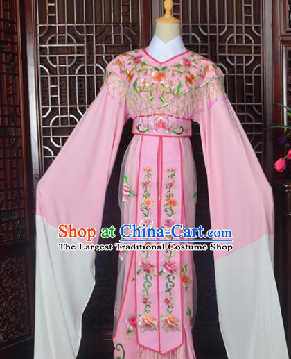 Handmade Chinese Beijing Opera Actress Costume Peking Opera Princess Embroidered Pink Dress for Women