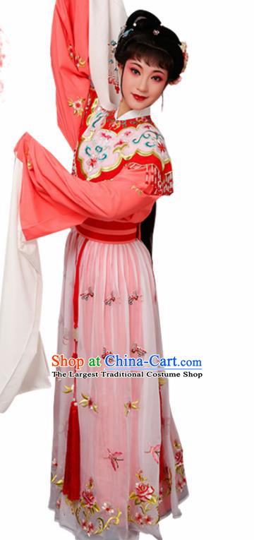 Handmade Chinese Beijing Opera Diva Embroidered Red Dress Traditional Peking Opera Princess Costume for Women