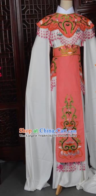 Handmade Chinese Beijing Opera Princess Orange Embroidered Dress Traditional Peking Opera Diva Costume for Women