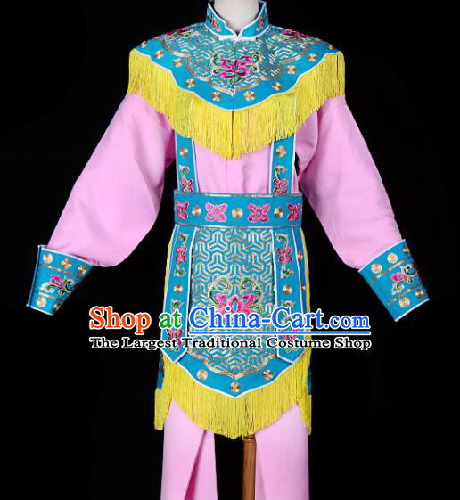 Handmade Chinese Beijing Opera Blues Embroidered Pink Clothing Traditional Peking Opera Diva Costume for Women
