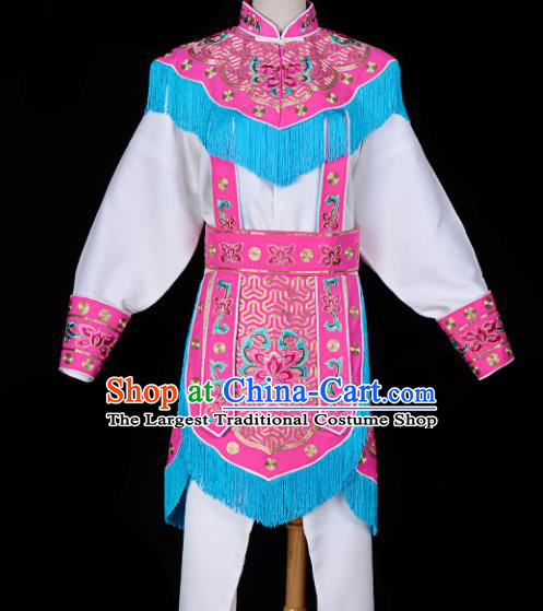 Handmade Chinese Beijing Opera Blues Embroidered Rosy Clothing Traditional Peking Opera Diva Costume for Women