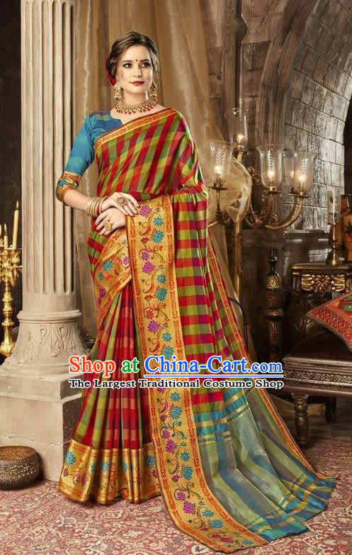 Asian India Traditional Bollywood Queen Sari Dress Indian Court Costume for Women